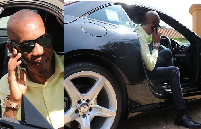 Bryan White in one of his posh rides