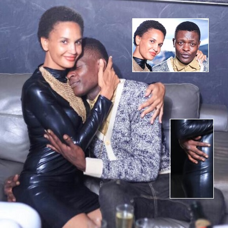 Chameleone feeling Daniella at the party