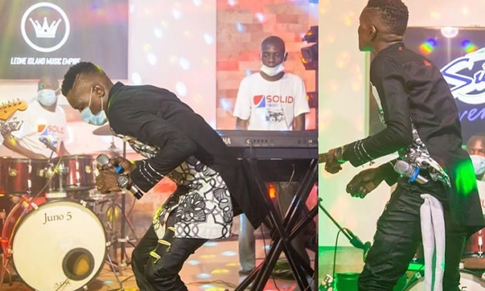 Chameleone performing at his home on his birthday