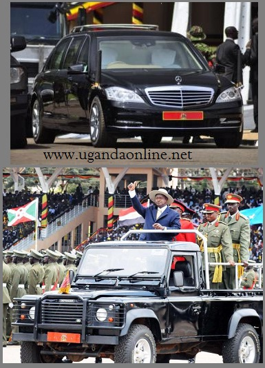 The Mercedes Benz Limousine and the Land Rover Defender were the cars the President used during the celebrations