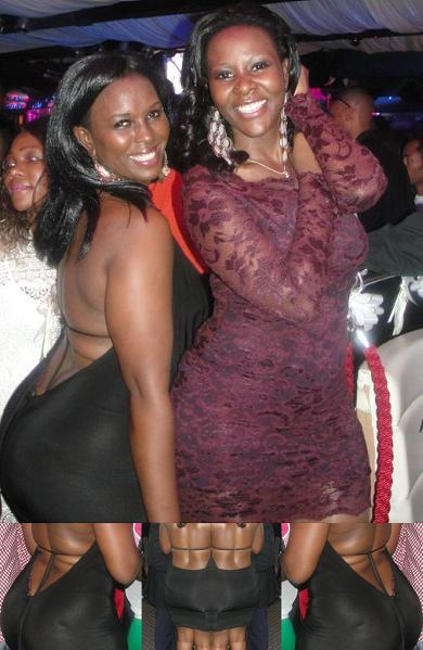 Desire poses with a bummy fan