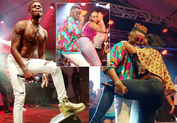 Diamond Platnumz doing his thing at the Carnivore during the Koroga Festival