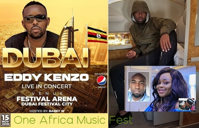 Eddy Kenzo off to Dubai hours to Rema's intro