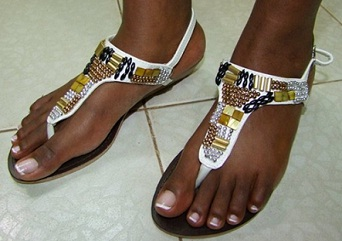 Sandles on sale at Nalubega Complex