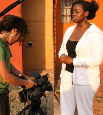 Aljaazeera Team doing a video shot on Angella Katatumba