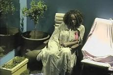 Latoya feeling a lot better in the Luxury suite as opposed to the Rubbish Dump