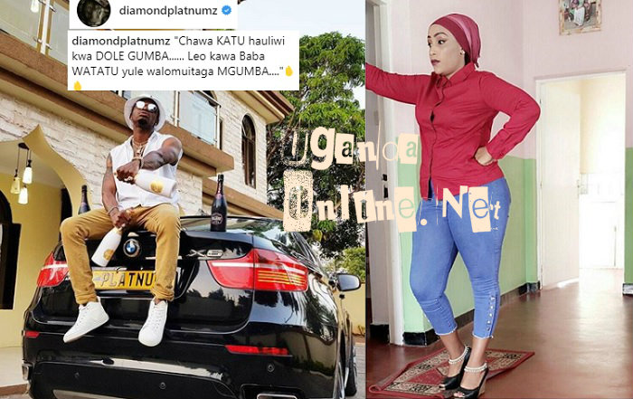Platnumz on his black BMWX6 and inset is Jesca Honey