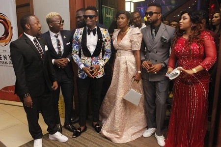 Diamond Platnumz, his mom and members of Wasafi in Nairobi