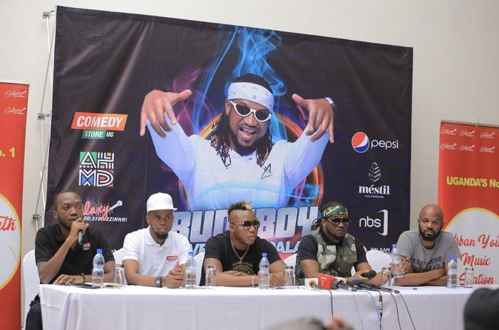 Rudeboy during the press conference in Kampala