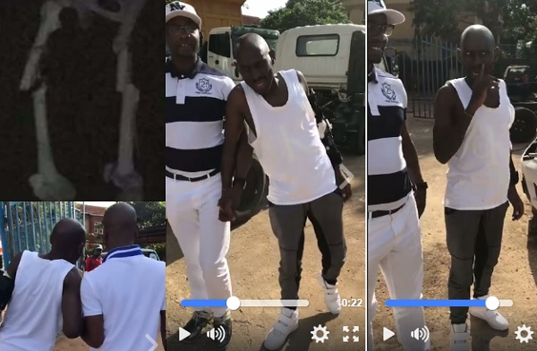 SK Mbuga was seen trying to walk, but you it's evident he has not fully healed