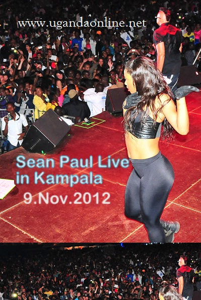Sean Paul and one of her gals at Lugogo