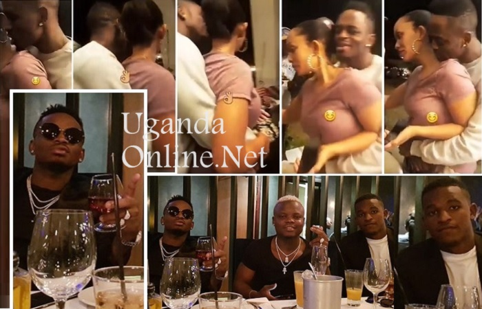 Zari and Diamond Platnumz at home and later in the evening