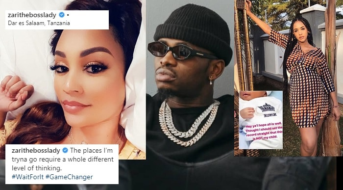 Zari in Tanzania as Diamond Platnumz prepares for the arrival of his third son